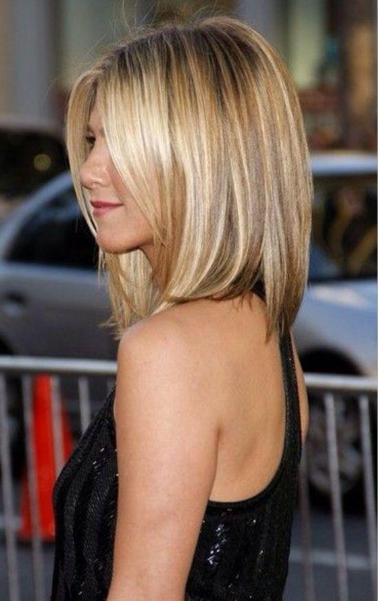 Jenifer Aniston blonde bob hair style. - Inspiração para o próximo corte de cabelo.