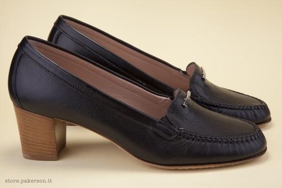 Italian luxury real leather shoes. - Scarpe Italiane di lusso in vera pelle. http://store.pakerson.it/high-heel-moccasins-21271-nero.html