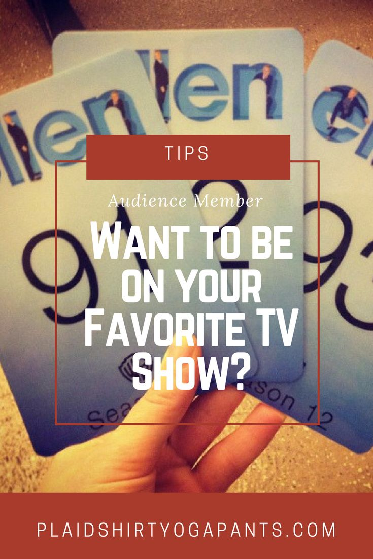 Click to learn how to be an Audience Member on your Favorite TV Show. Discover how I've been an audience member for 7 shows and have even appeared on TV as an audience member! via Plaid Shirt Yoga Pants