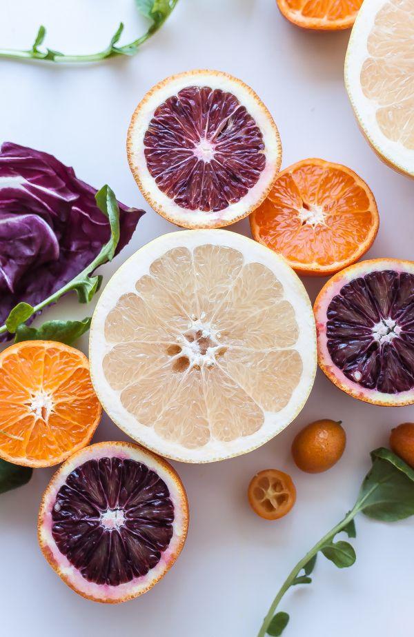 Citrus Salad with Bitter Greens | bloggingoverthyme.com