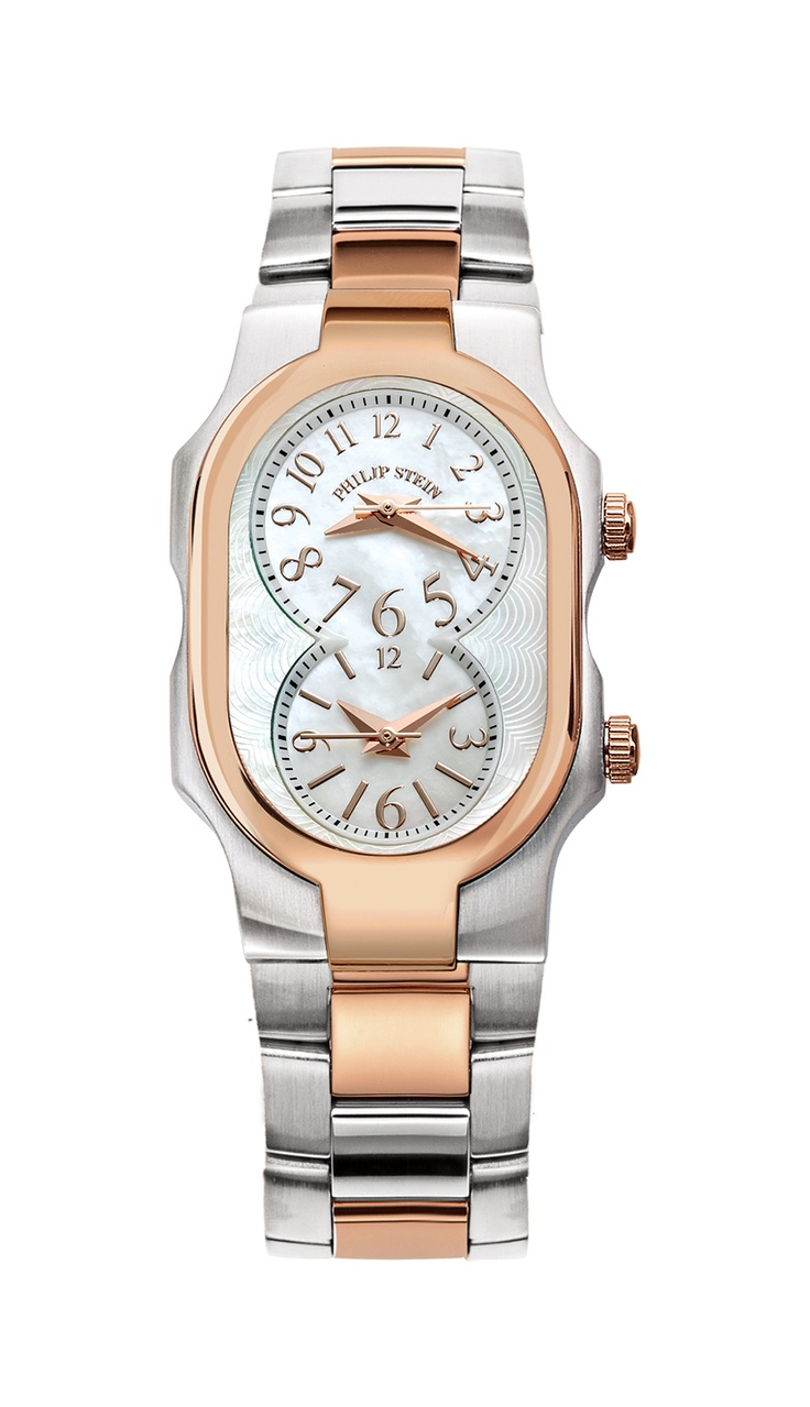 Stein Rose: Small Two Tone Rose Gold Plated & Steel