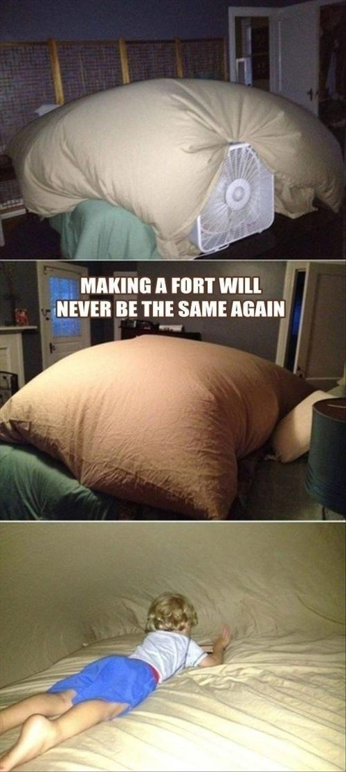 awesome sleepover fort, make several and connect them