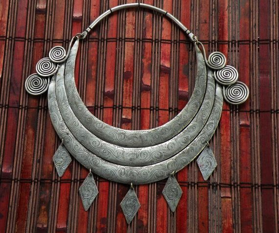 Shaman ritual necklace Miao Hmong tribal jewelry by CultureCross, $360.00
