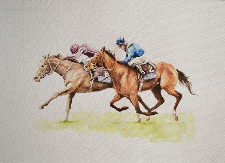 jockey II - watercolour 30 x 40 cm