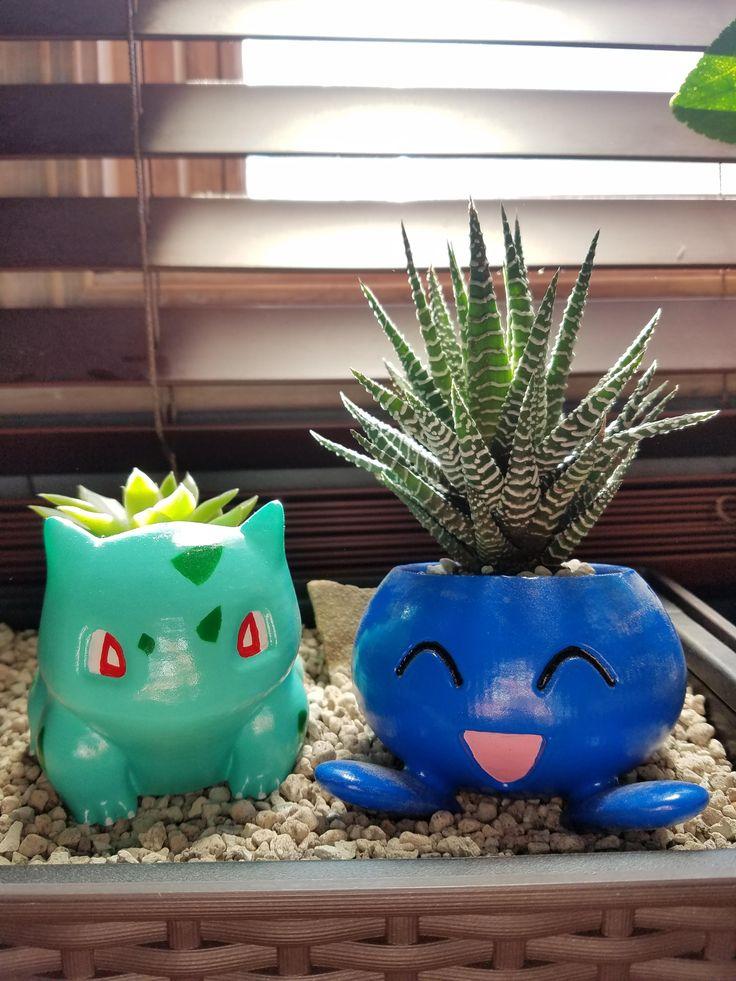 bulbasaur and oddish planter