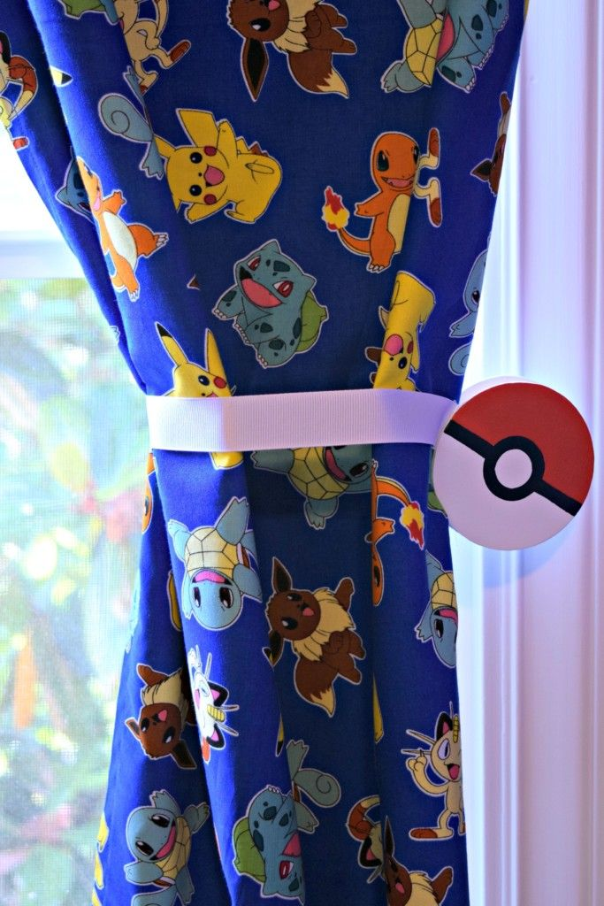 How To Make Magnetic Curtain Tie Backs Pokemon Room Bedroom Themes Pokemon Decor