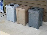 Kolor Can 32 Gallon Indoor Outdoor Trash or Recycling Receptacle