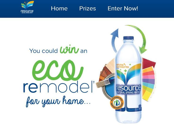 Enter the resource Natural Spring Water Sweepstakes for a chance to win $16,568 Cash, Blogger Designer Skype Sessions, and a year supply of resource Natural Spring Water!
