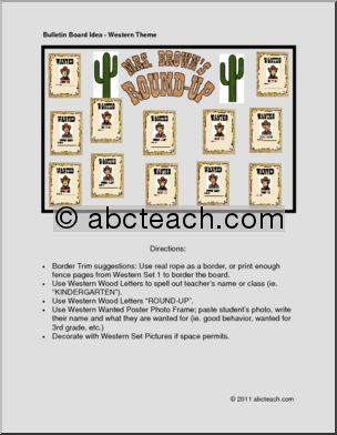 Bulletin Board: Western Round-up Theme - preview 1