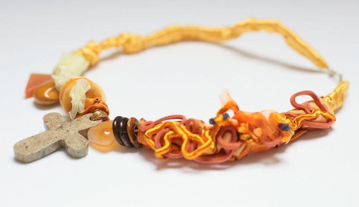 textile design necklace, pls find at https://www.etsy.com/shop/Alwond