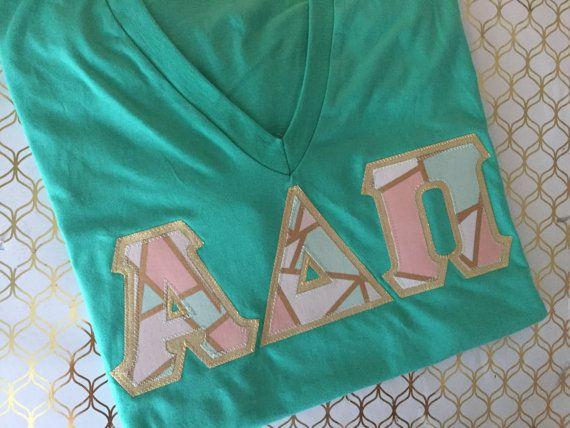 American Apparel Greek Letter v neck Shirt , ADPi v neck, Zeta vneck, Alpha Gam v neck, Sigma Kappa v neck, Delta Zeta v neck