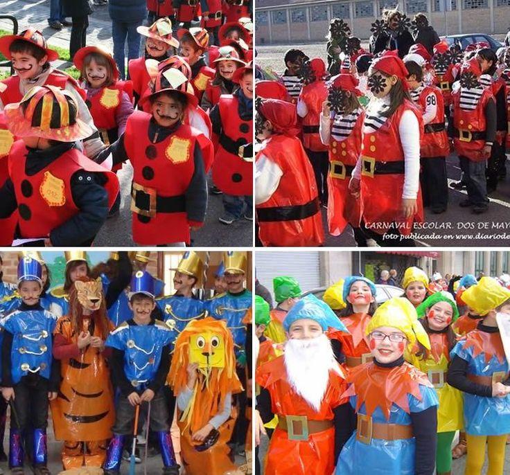 Disfresses amb bosses de plàstic de colors #totnensDisfresses #disfressesInfantils #Carnaval