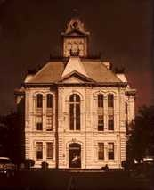 1888 Austin County courthouse vintage photo - Bellville Tx..burned in 1960