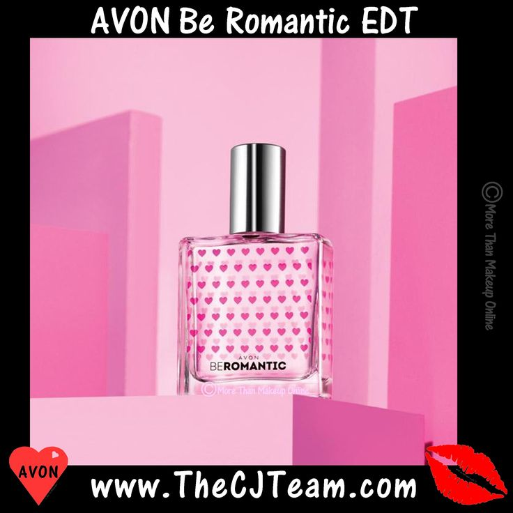 Avon Be Romantic Eau de Toilette. Avon. Express your love with this dreamy fusion of luscious black currants, feminine rose and creamy sensual musk. Reg. $23. FREE shipping with any $40 online Avon purchase #Avon #Sale #CJTeam #Fragrance #BeCollection #BeFragrance #BeRomantic #MoreThanMakeupOnline #Fragrance #Avon4me #C20 #Layer #Perfume Shop Avon Fragrance online @ www.TheCJTeam.com