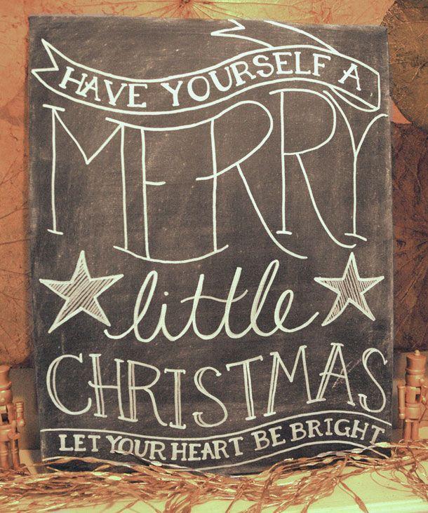 Christmas chalkboard art