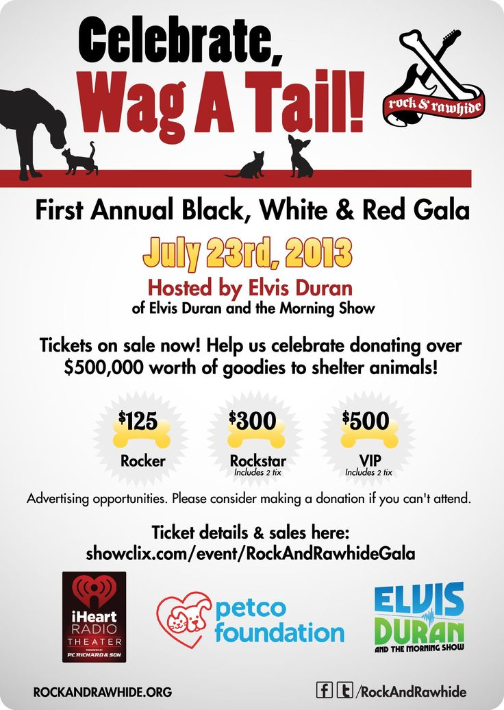 Less than a week for the First Annual Black, White & Red Gala with Rock & Rawhide & Elvis Duran Show! Get your tickets now!   Tuesday - July 23, 7PM-9PM @ iHeartRadio Theater  Get your tickets here http://www.showclix.com/event/rockandrawhidegala