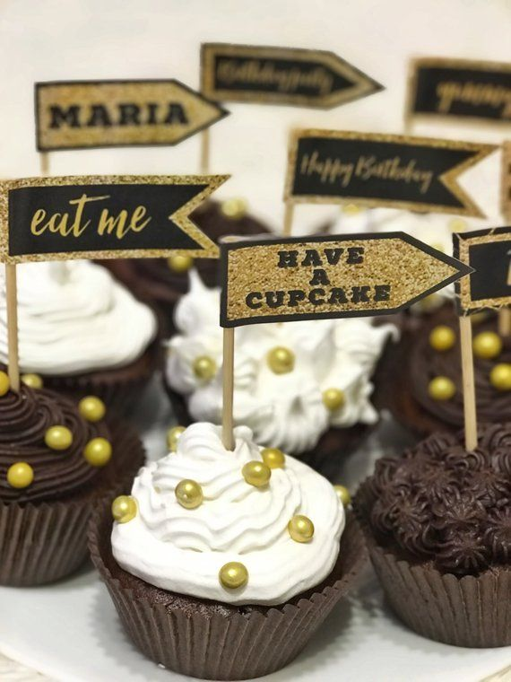 Personalised Cupcake Toppers
