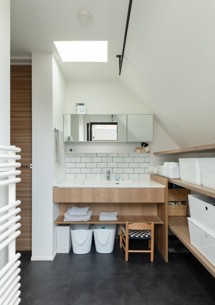 Case651 New Tral House 造作 洗面台 インテリア パウダールーム デザイン