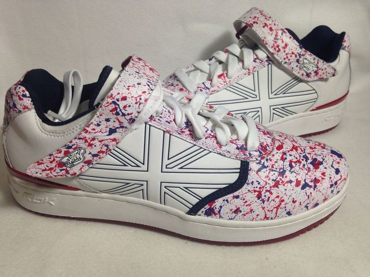 Derrty One Reebok Paint Splattered Mens Tennis Shoes Sneakers Size 12 #Reebok #AthleticSneakers