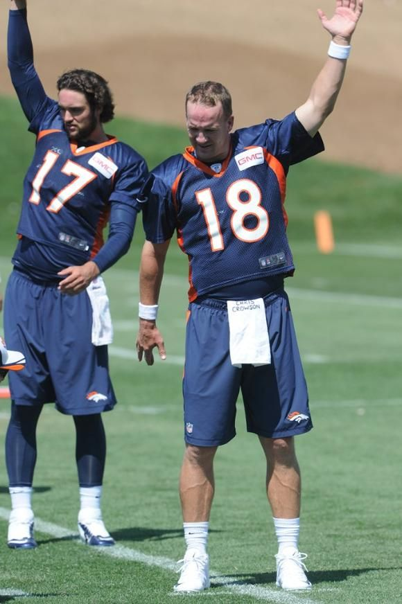Brock Osweiler and Peyton Manning