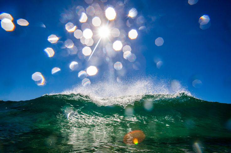 what a wakeup wave on Cylinder Beach | Stradbroke Island Photography