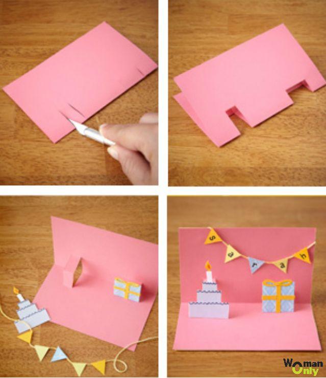 Открытки, открытке из бумаге маме на день рождения