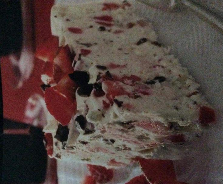 Rezept Leichte Schokoladige Erdbeereis-Torte von Ronja1999 - Rezept der Kategorie Desserts