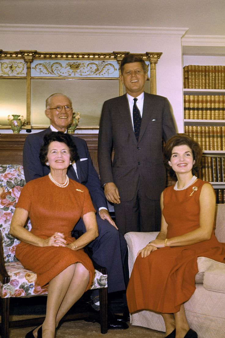 President Elect John F. Kennedy with his parents Joe Sr., Rose and wife Jacqueline, November 10th 1960.