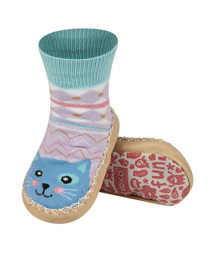 Kojenecké fialovo-béžové ponožky Happy Farm