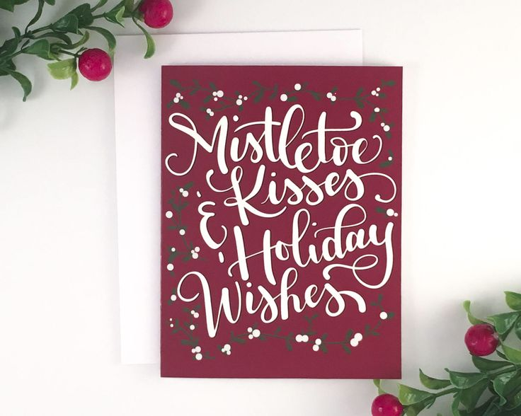 Don't settle for run-of-the-mill Christmas cards this year, make a statement with these unique handwritten note cards.