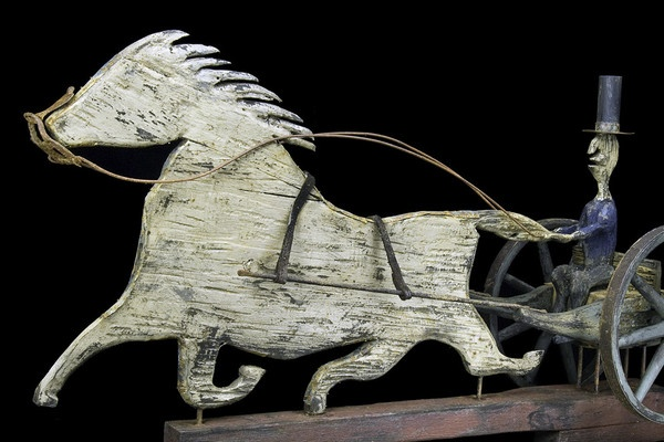 Horse & Sulky Weathervane Circa 19th Century