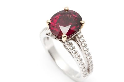 Choose from the spectrum of coloured gemstones to create your own spectacular dress ring or cocktail ring!