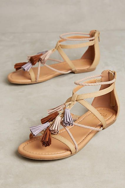 Anthropologie Seychelles Malaga Gladiator Sandals - one way to work the  tassel trend into your summer
