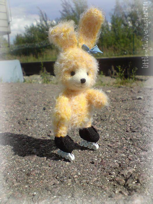 Купить зайка Нати - юный роллер )) - зайка, зайчик, зайцы, авторские зайцы