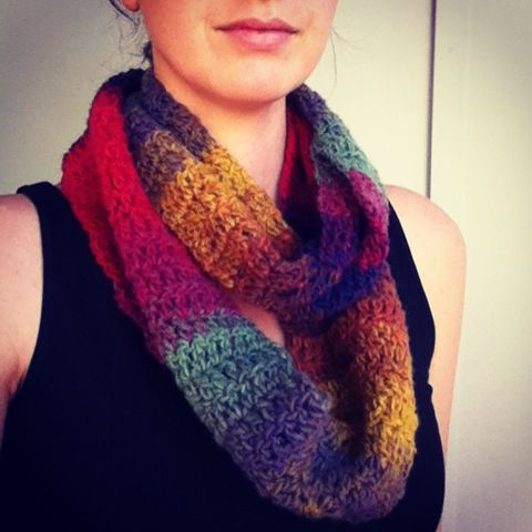 Crochet scarf, infinity scarf, cowl