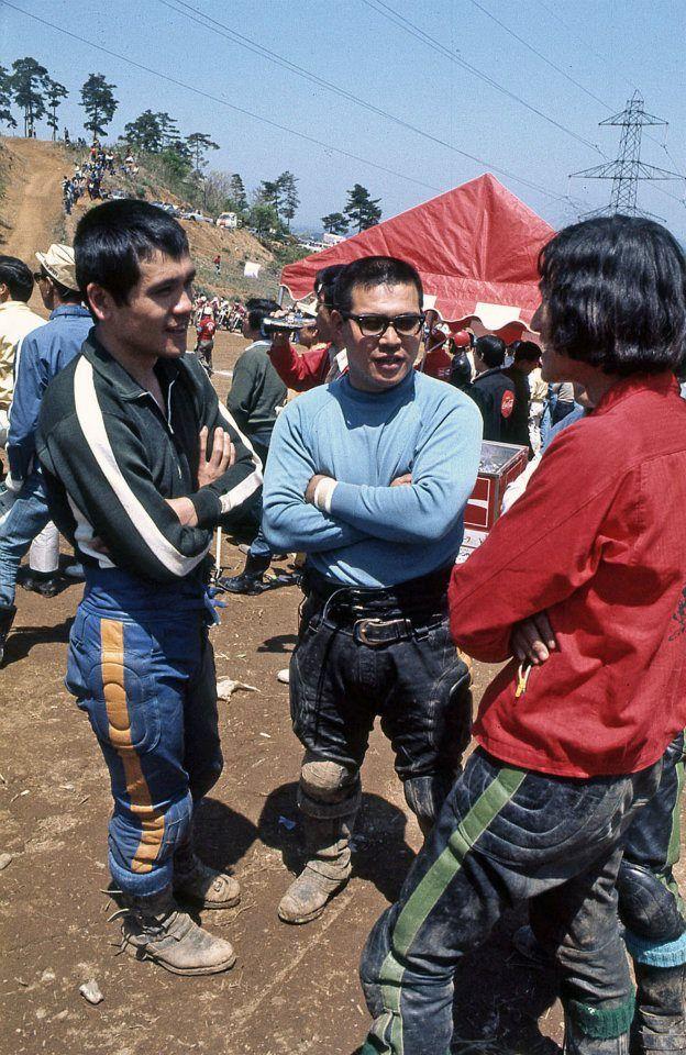 1971年 第4戦 富山 鈴木忠男(左) 加藤清丸(中央)