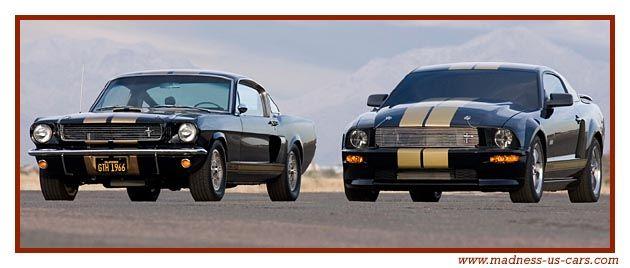 Mustang Shelby GTH Hertz 1966 et 2006