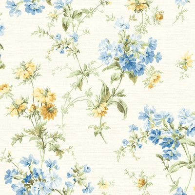 "Found it at Wayfair - Springtime Cottage Toss 33' x 20.5"" Wildflower 3D Embossed Wallpaper"