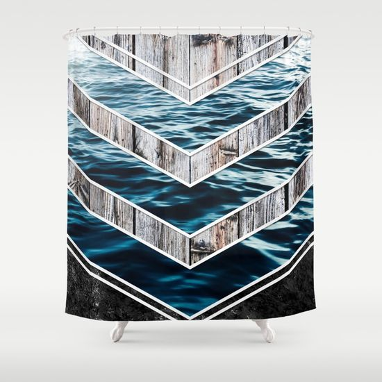 Striped Materials of Nature III Shower Curtain #wood #wooden #marble #stone #sea #ocean #stripe #stripes #striped #nature #texture #homedecor #shower #curtains