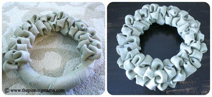burlap bubble wreath, burlap project, wreath, natural wreath, easy, DIY, tutorial, pin test