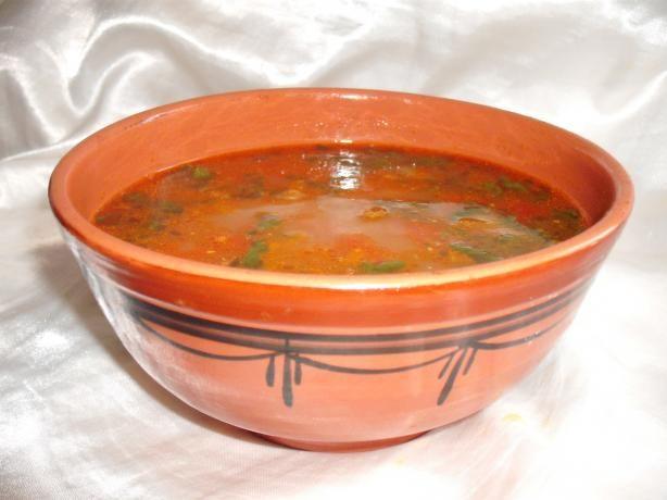 Algerian Chicken & Chickpea Soup ( Chorba / Shorba) from Food.com: