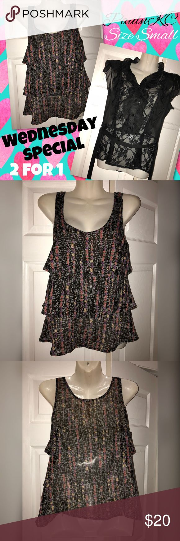 ‼️2for1SALE‼️PaulnKC Women's Tops Wednesday Special Sale‼️ Two PaulnKC women's tops size small for price of one! Both tops are very pretty & are perfect for a day at the office, warm weather &/or any just because occasion 🌸💖 both only worn once & in great condition 🙂 Happy Wednesday!! PaulnKC Tops