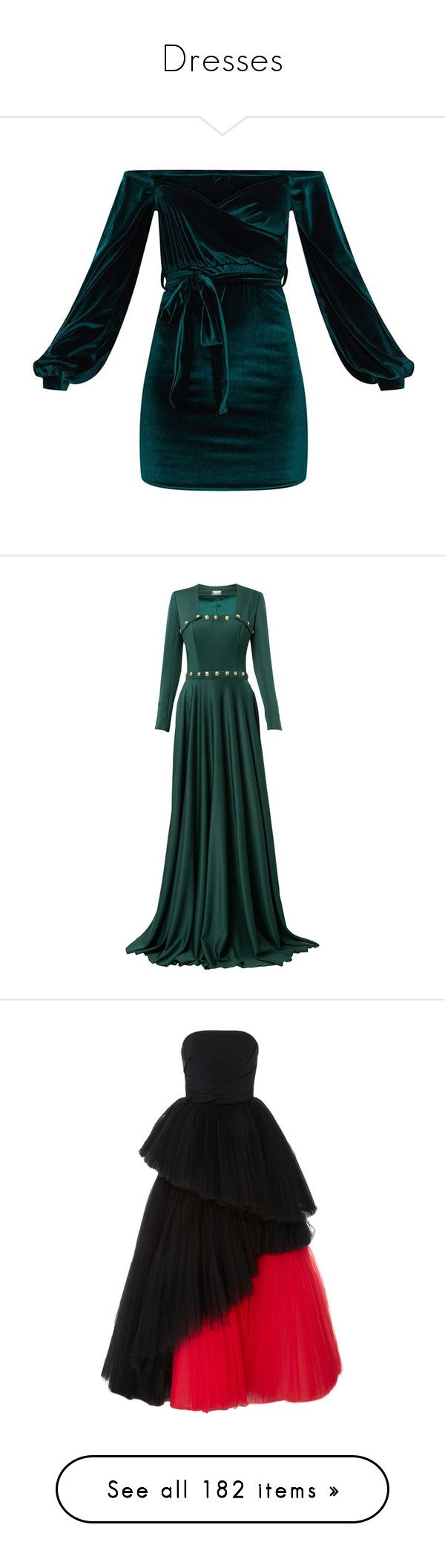 """""""Dresses"""" by pharaoh-s ❤ liked on Polyvore featuring dresses, body conscious dress, wrap front dress, bodycon dress, emerald green dress, body con dress, gowns, gown, green and square neck gown"""