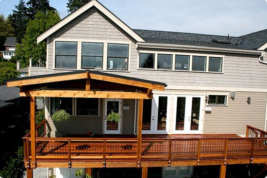 Covered area for 2nd story deck. I would like to cover part of my ...