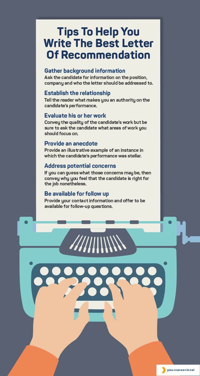 Tips for writing a good letter of recommendation