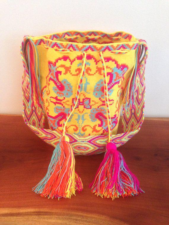 Rare Large Wayuu Mochila Bag by TrustFundBeachBum on Etsy