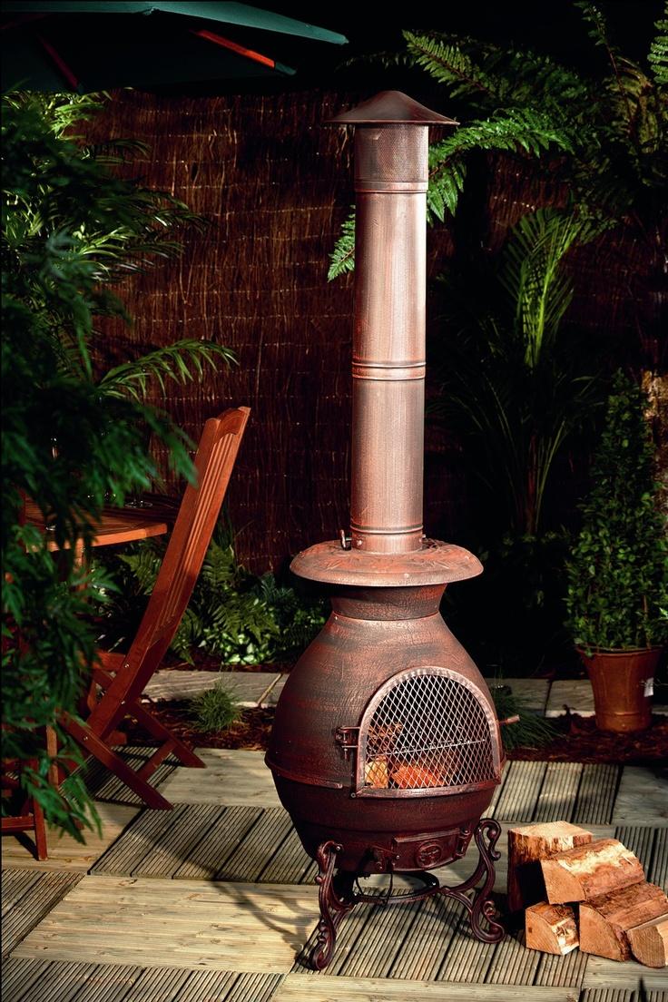 M s de 1000 ideas sobre chimenea de hierro fundido en - Chimeneas de barro ...
