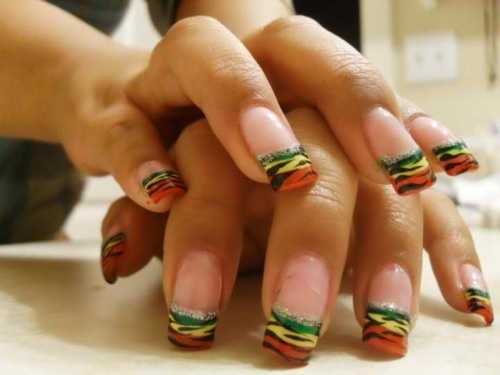 rasta nails - maybe for hempfest this weekend? - Pinterest'teki 25'den Fazla En Iyi Rasta Nails Fikri Bob Marley