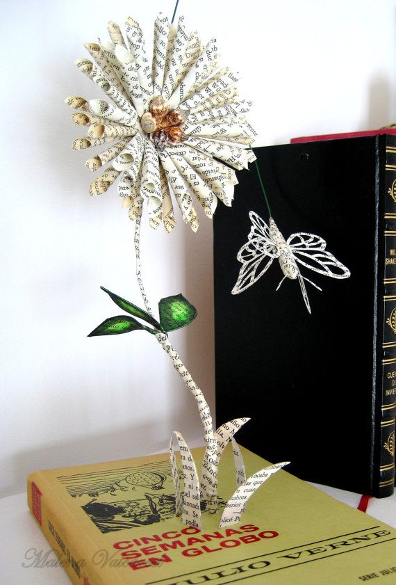 Book Sculpture Paper Art Altered Book by MalenaValcarcel