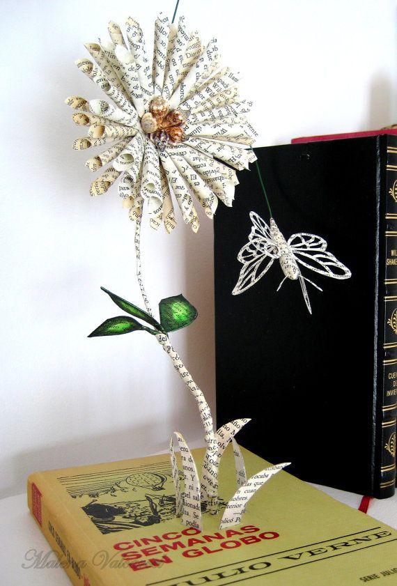 VENTE Réservez Sculpture Art du papier livre par MalenaValcarcel
